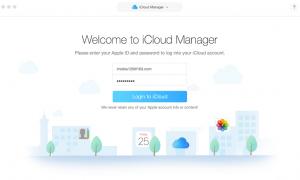 Mit dem iCloud Manager arbeiten